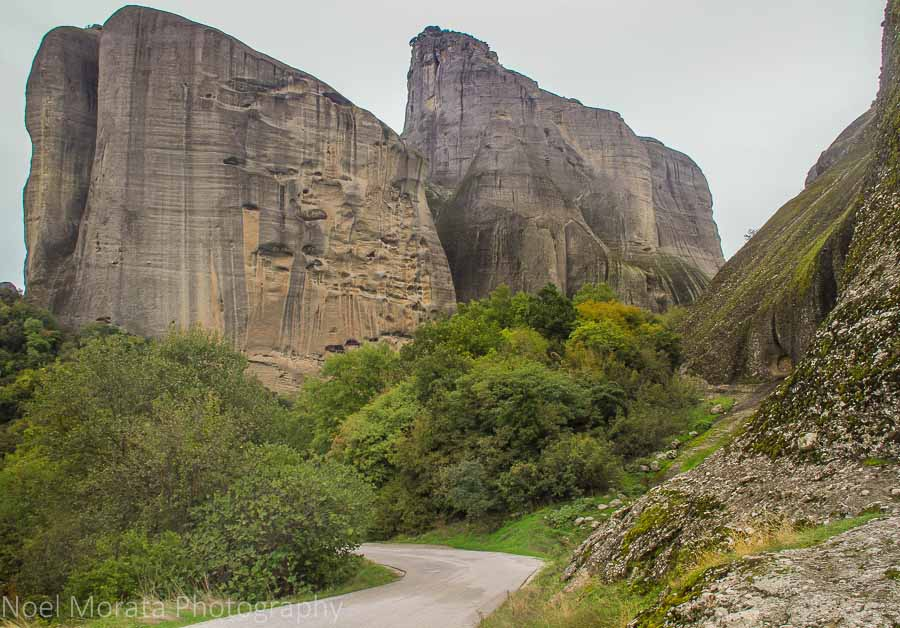 A road leading to an off the beaten path area in Meteora