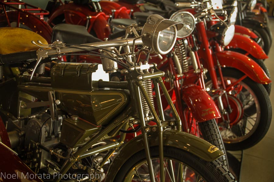 Collectors motorcycles on the third floor of Museo Nicolis