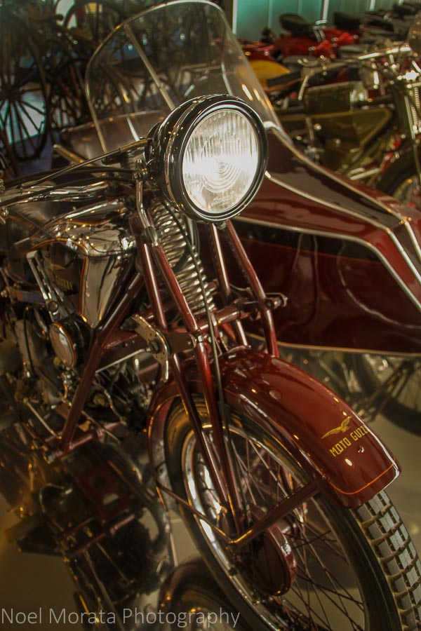Vintage motorcycles at Museo Nicolis