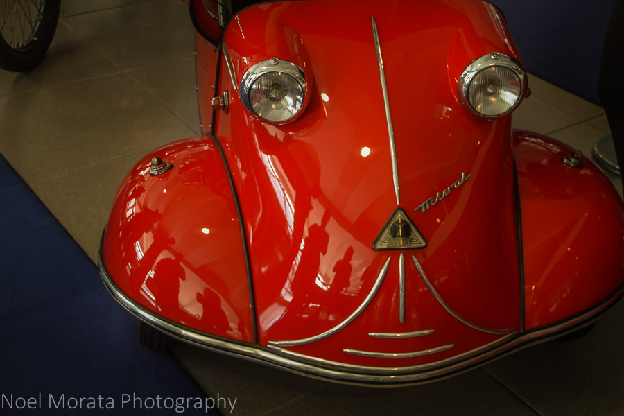 Cherry red cutie at the Museo Nicolis at Verona