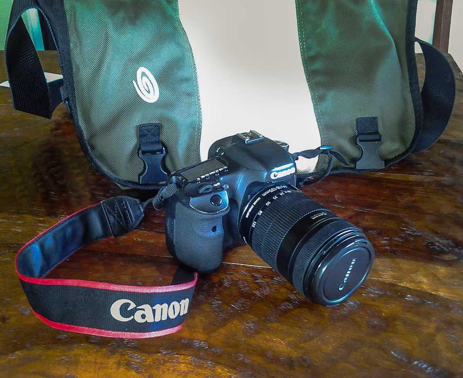 Camera and bag is always ready to go