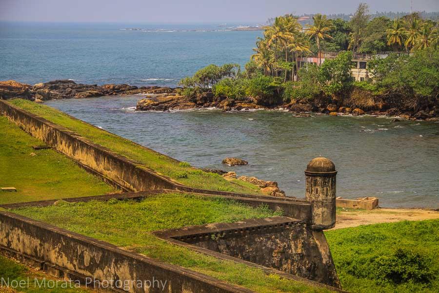 Galle fort details and coastline