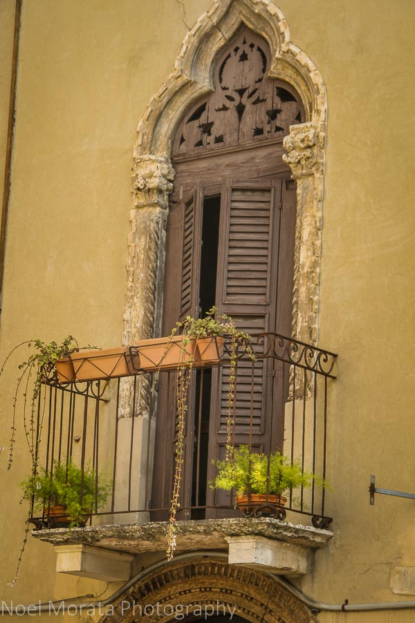 Venetian style doors and detail in Verona