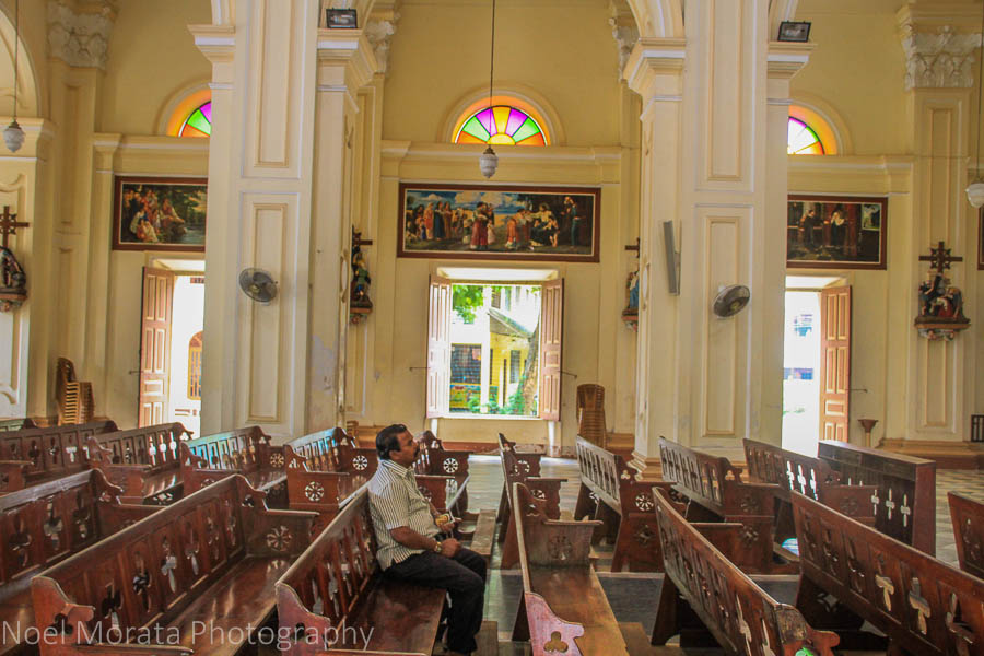 Contemplation at St. Mary's Cathedral in Negombo