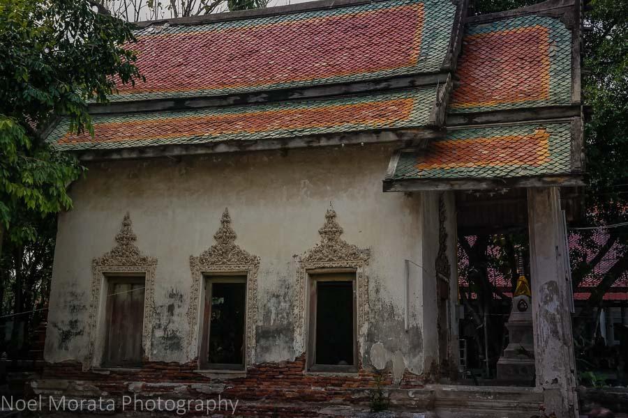 Buddhist temples at Baan Silapin in Bangkok