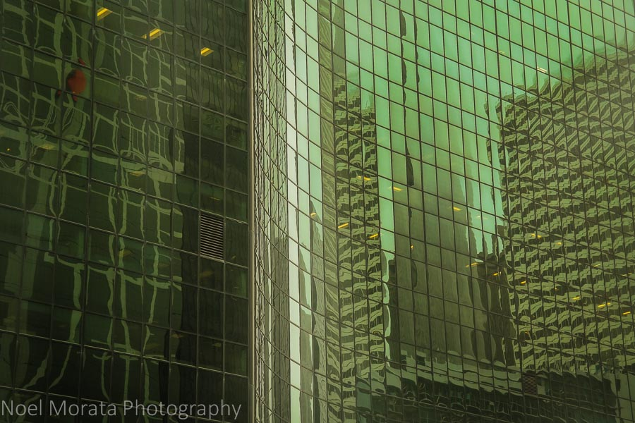 Chicago street scene reflections
