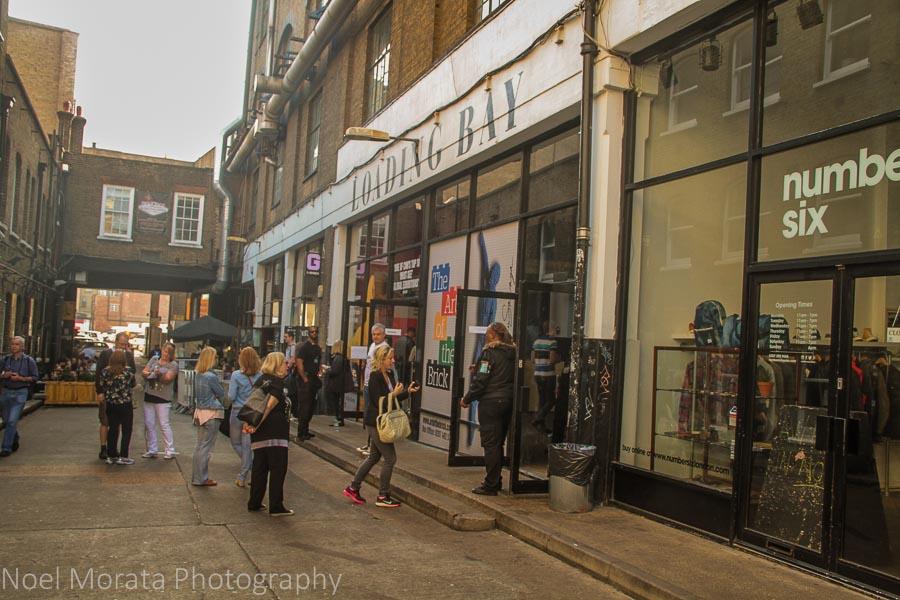 Trendy boutiques on Brick Lane