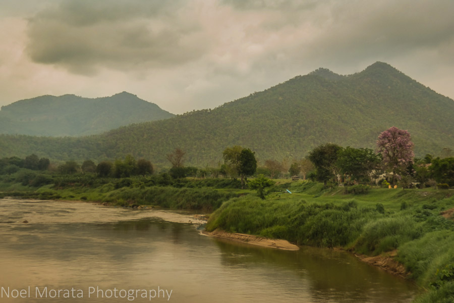 The Mekong and hill country of the Loei region of Thailand