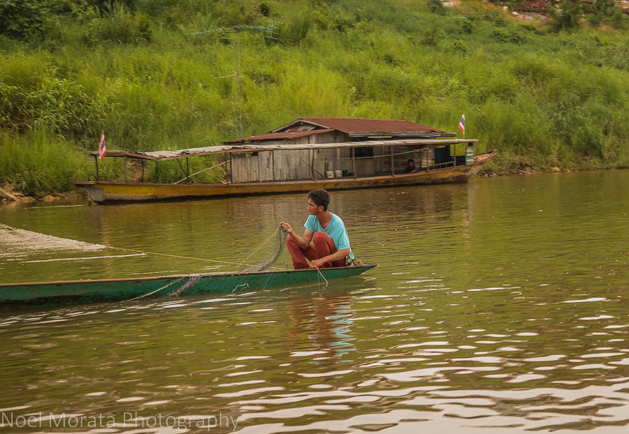 Cruising by longtail in the Loei region of Thailand