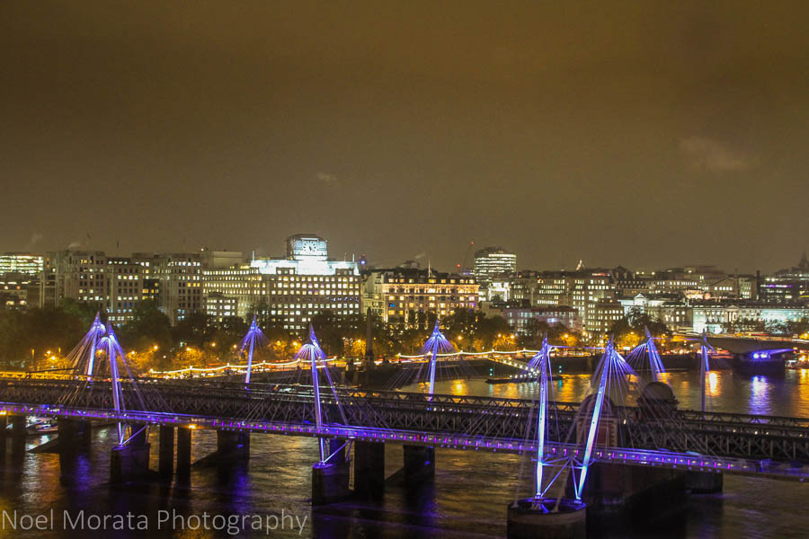 Views of the Thames river from the London Eye