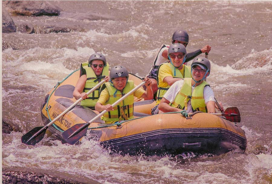 Rafting down the Mae Taeng river
