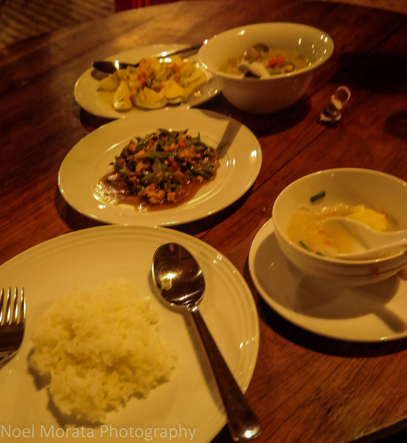 Local Thai cuisine at Lisu Lodge