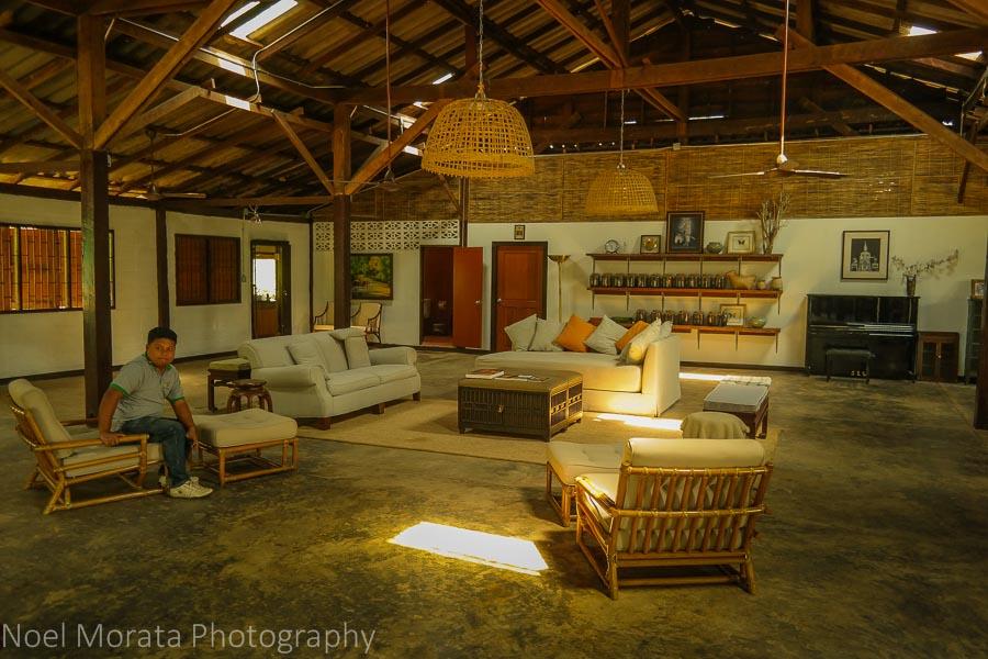 The tasting room at Araksa Tea Plantation
