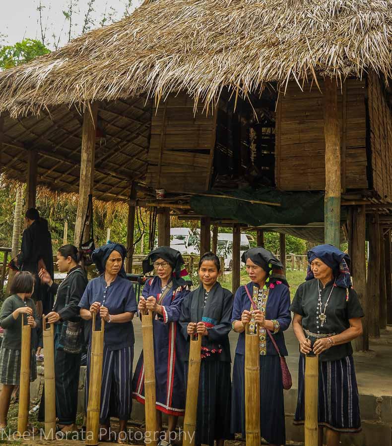 Musical instruments and singing at Ta Dam village