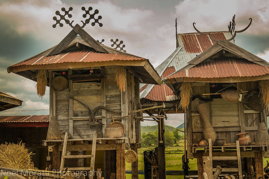 Homes of the Ta Dam people in Loei, Thailand