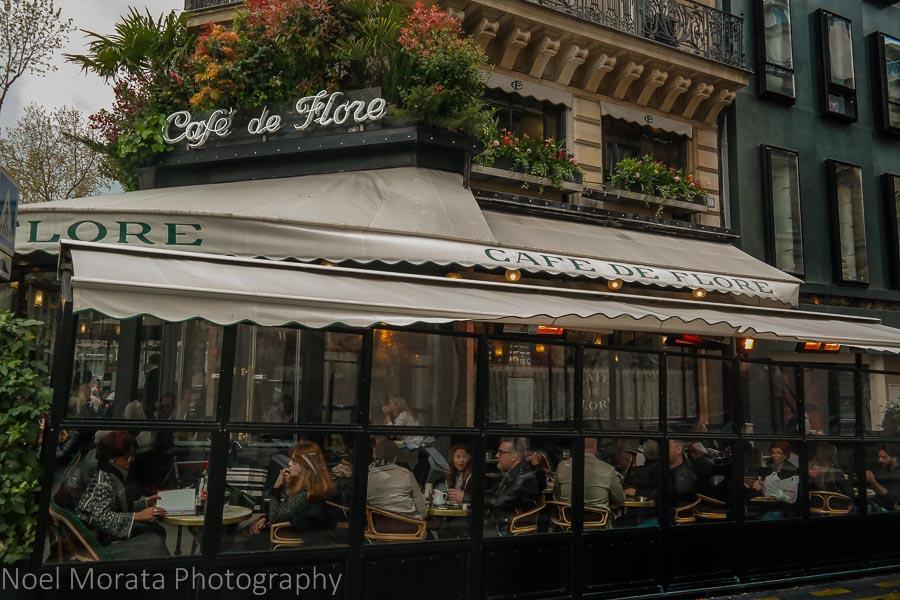 Café de Flore in St. Germain des Pres, Paris
