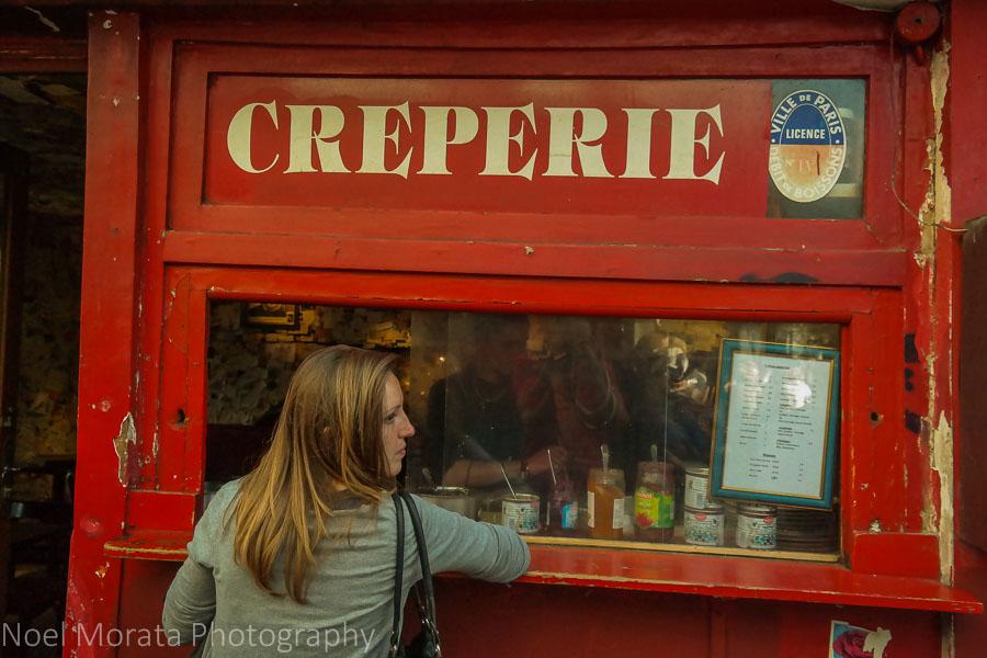A creperie in Montmarte, Paris