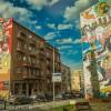 Warsaw street art close to the university