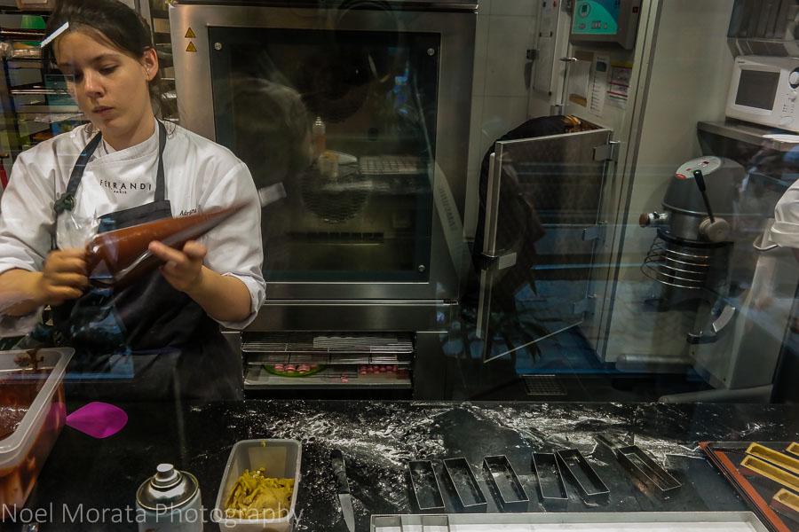 A food tour in Paris - the kitchen at Un Dimanch a Paris