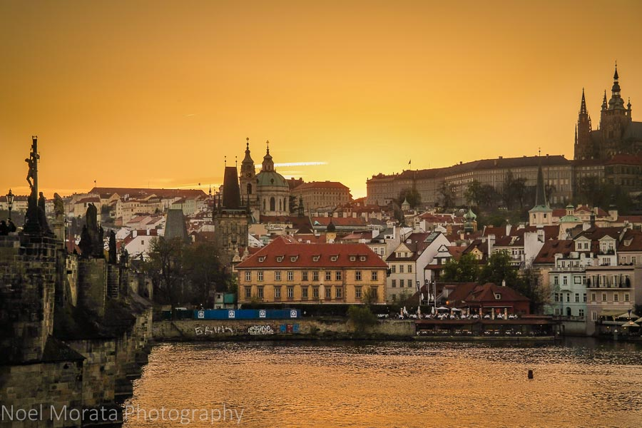 A first impression of Prague - Travel Photo Mondays - sunset in Prague