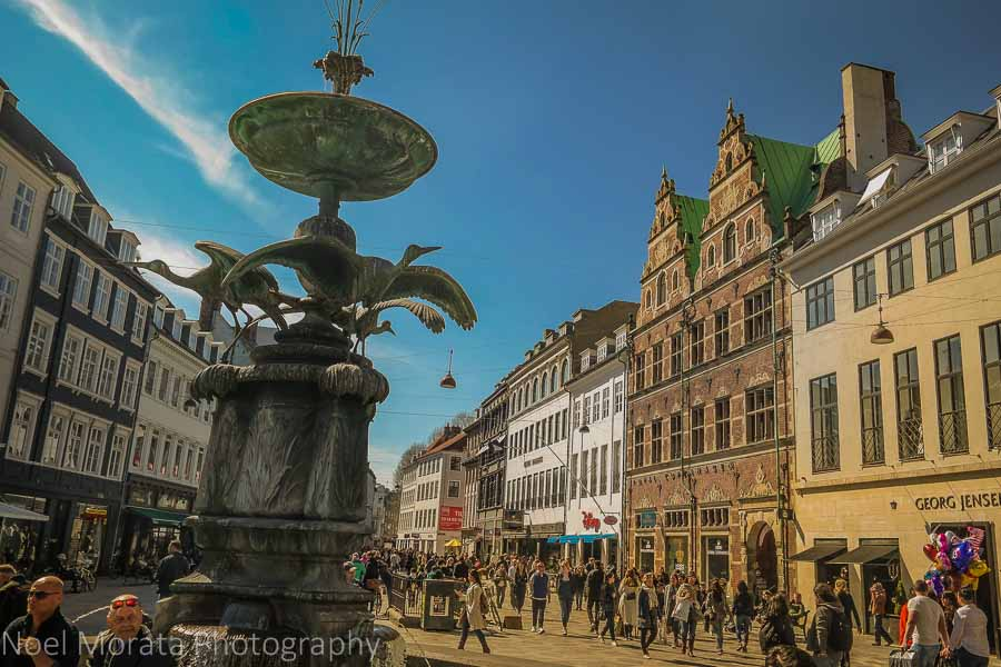 Strøget - the main shopping street in central Copenhagen
