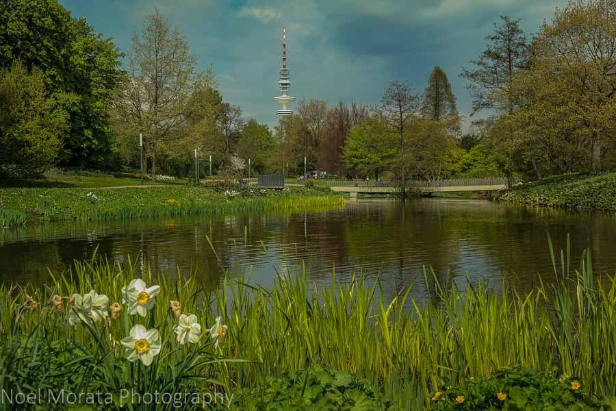 Planten un Blomen landscape in central Hamburg