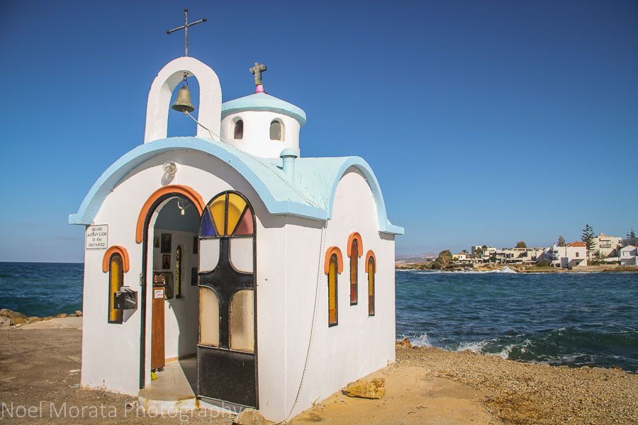 A small Greek harbor temple - 15 pictures of Crete, Greece