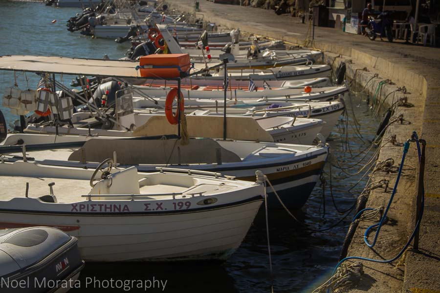 Fishing boats and harbor - 20 pictures of Crete in Greece
