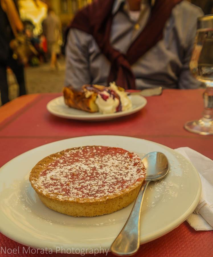 A praline cake dessert in Lyon, France