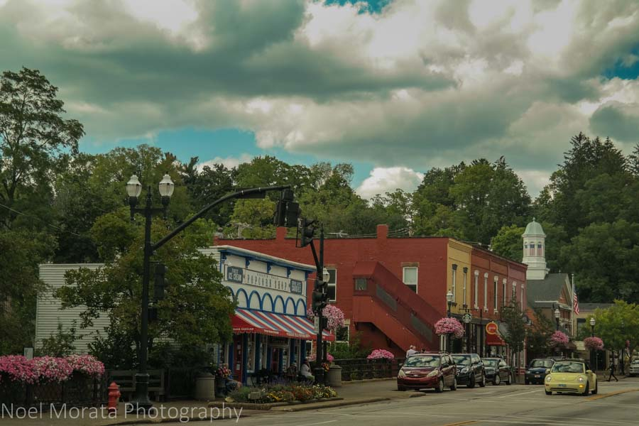 The downtown area Chagrin Falls, Ohio