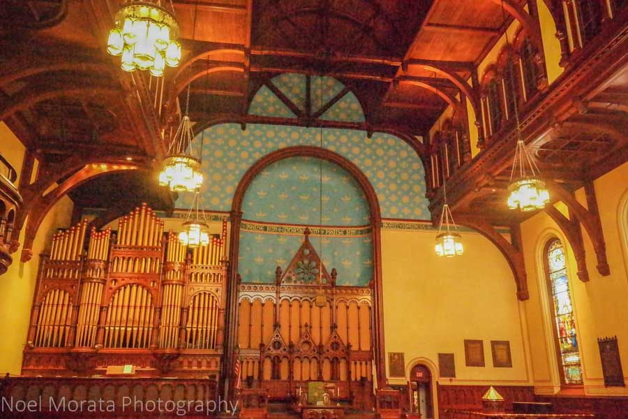 Old Stone church interior -  A visit to Cleveland, Ohio