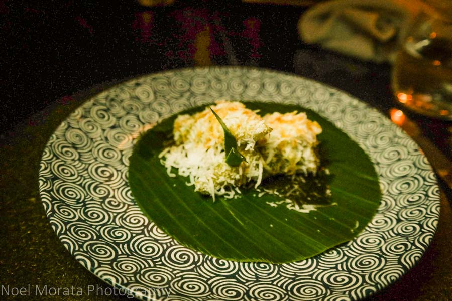 Shredded sweet coconut dessert at Amanjiwo, Borobudur