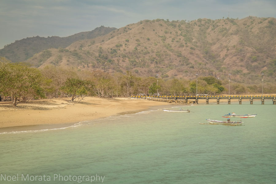 Scenic coastline at Komodo island, Indonesia
