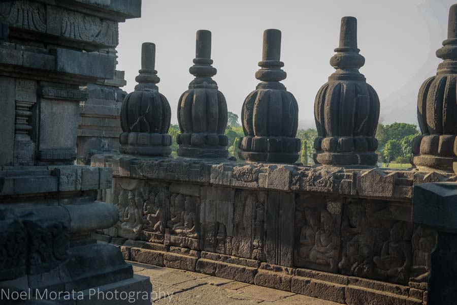 Temple details. Travel photo postcard - Prambanan Temple, Indonesia