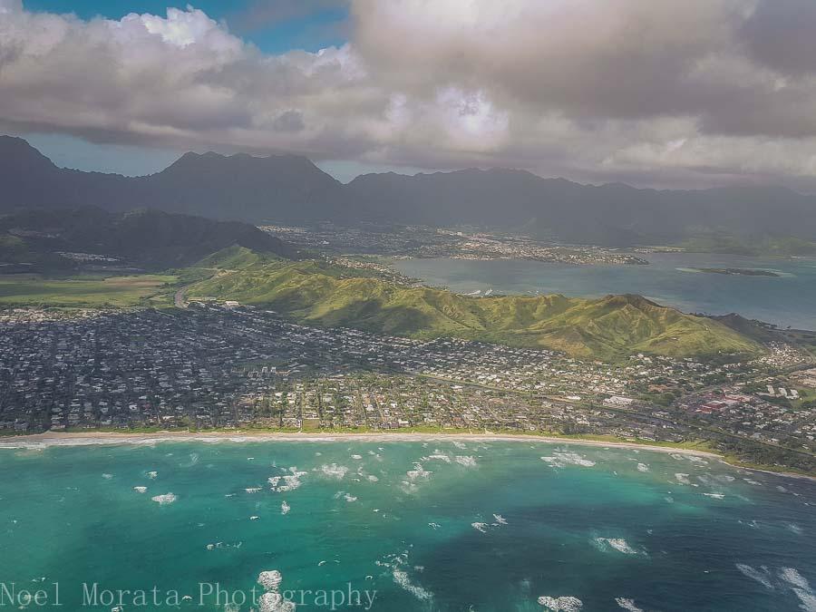 East Oahu's coastline- Helicopter ride around Oahu