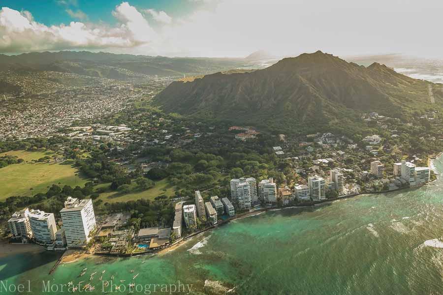 Approaching Diamond Head in Waikiki, Oahu