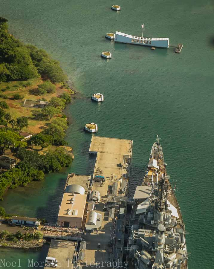 Pearl Harbor and the USS Arizona - Helicopter ride around Oahu