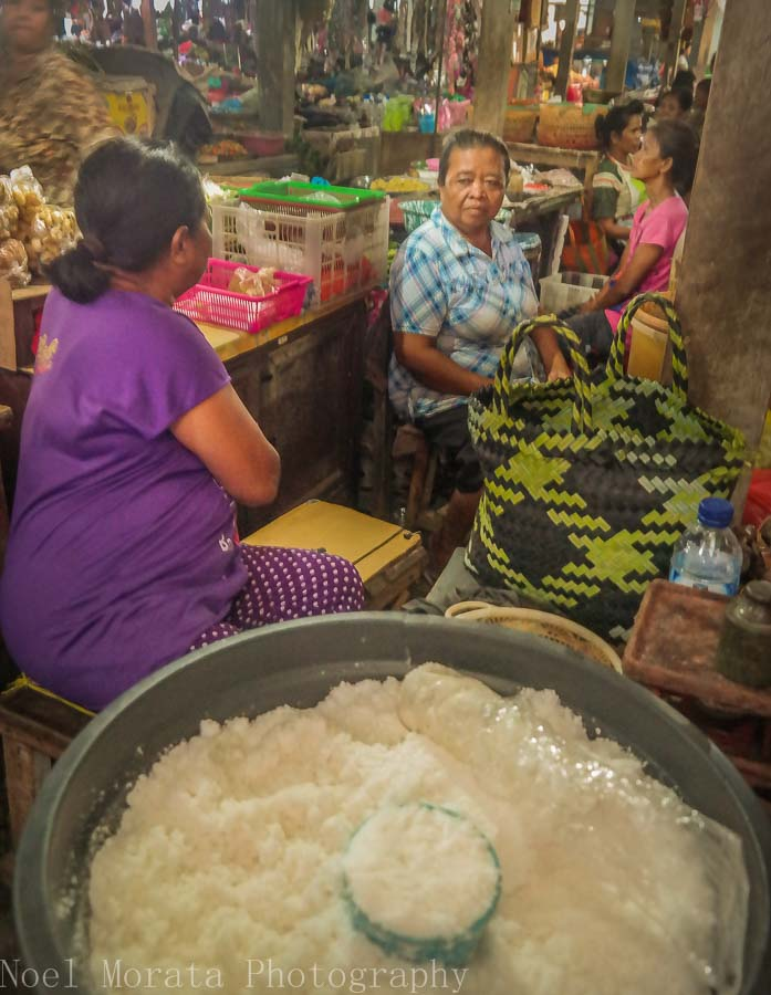 Local salt vendor in Tabanan, Bali - Markets in Bali