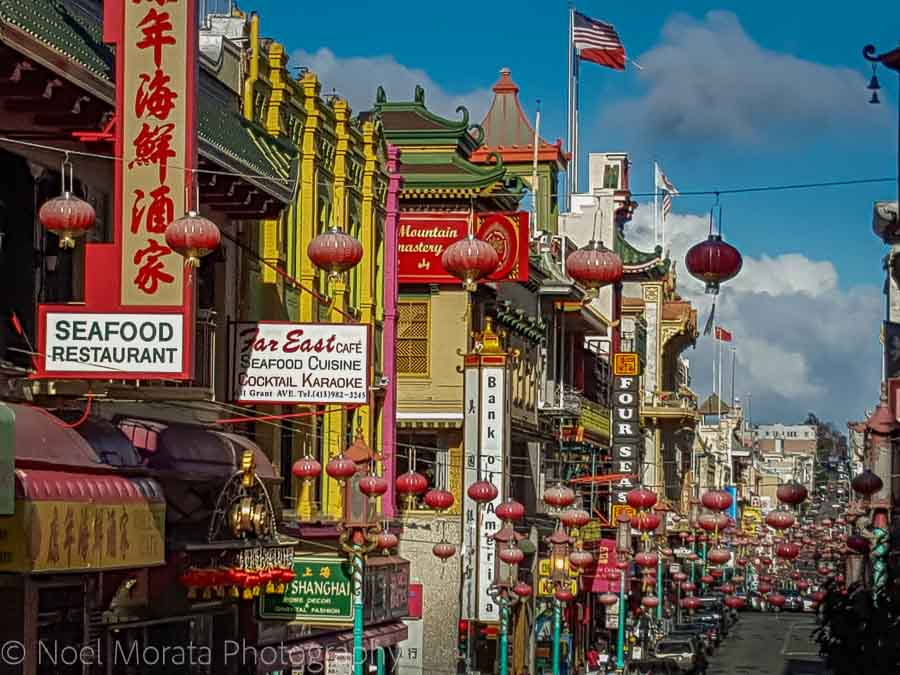 Chinatown and Eating and touring San Francisco