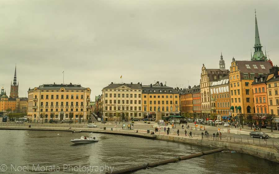 Gamla Stan waterfront in Stockholm - Visiting Stockholm - a first impression