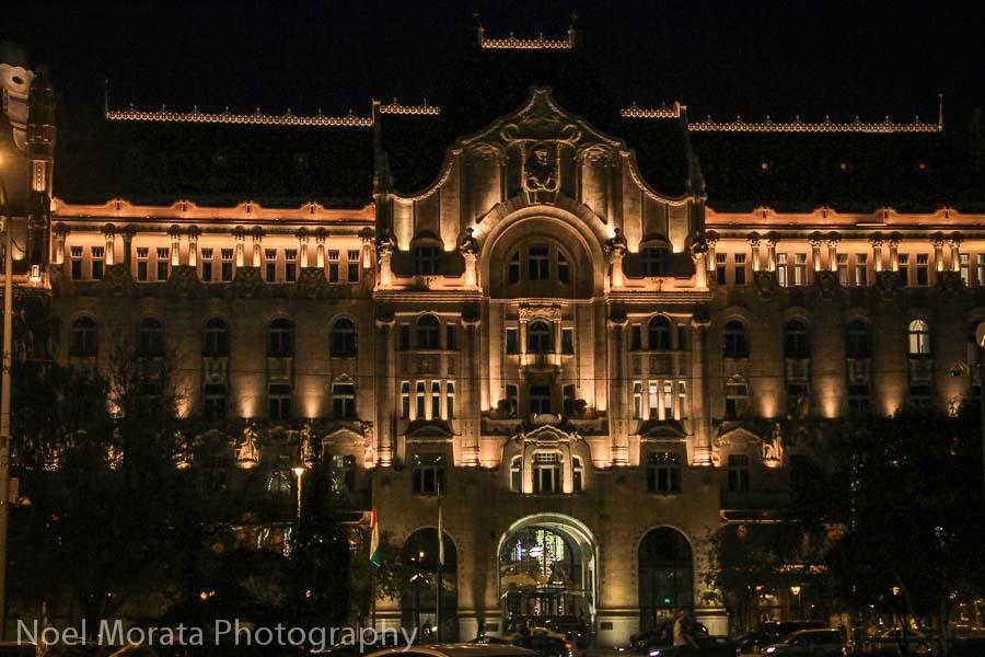 The Four Seasons Hotel along the Danube promenade