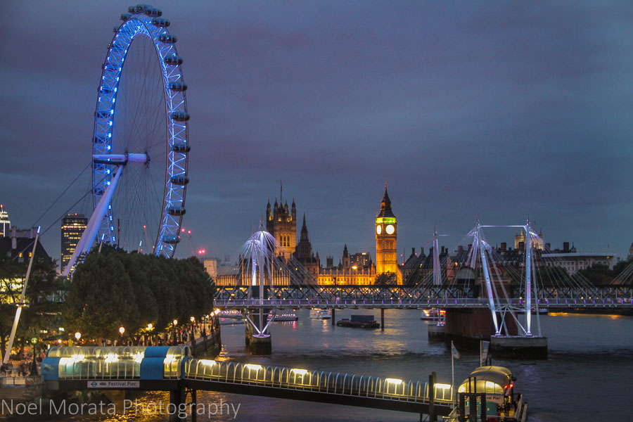 25 fun and cool places to visit in London the London Eye at night