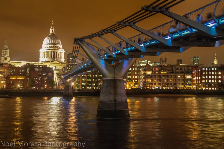 25 fun and cool places to visit in London - St Pauls at night time