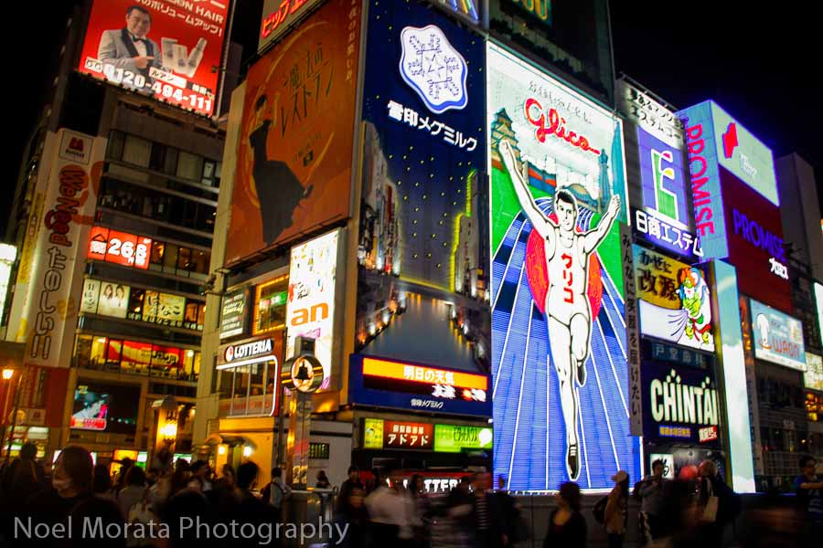 The lights of Dotonbori at night in Osaka
