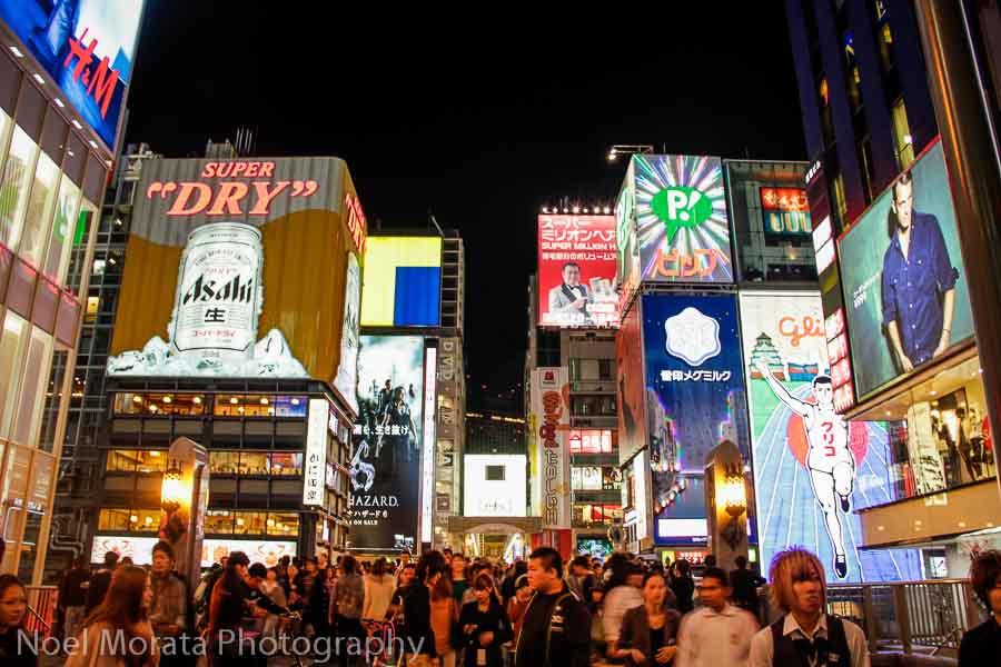 Main square with neon at Dotonbori - Exploring Dotonbori in Osaka