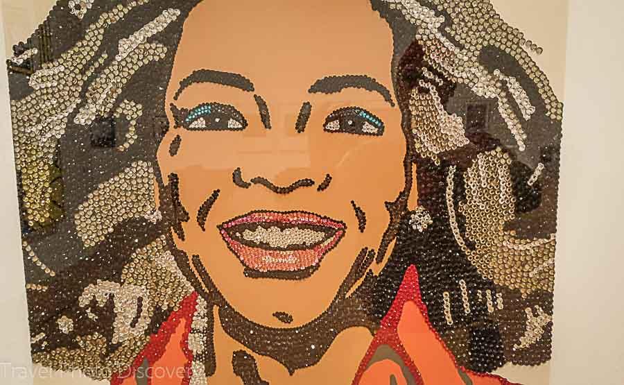 Oprah Winfrey in sequins Columbus Museum of Art