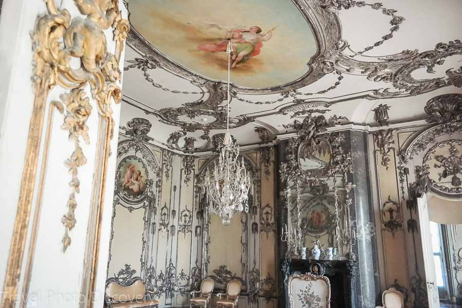Silver leafed room at the Neues Palace in Sanssouci