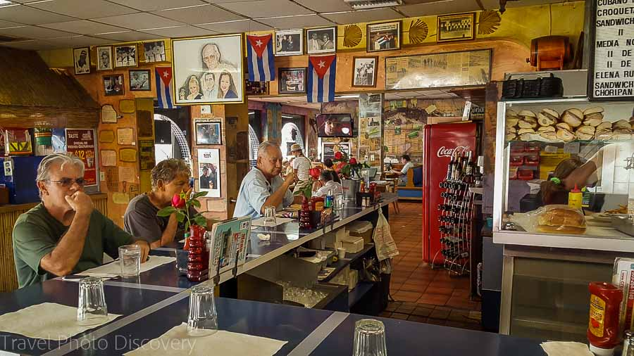 Typical café eatery in Little Havana, Miami