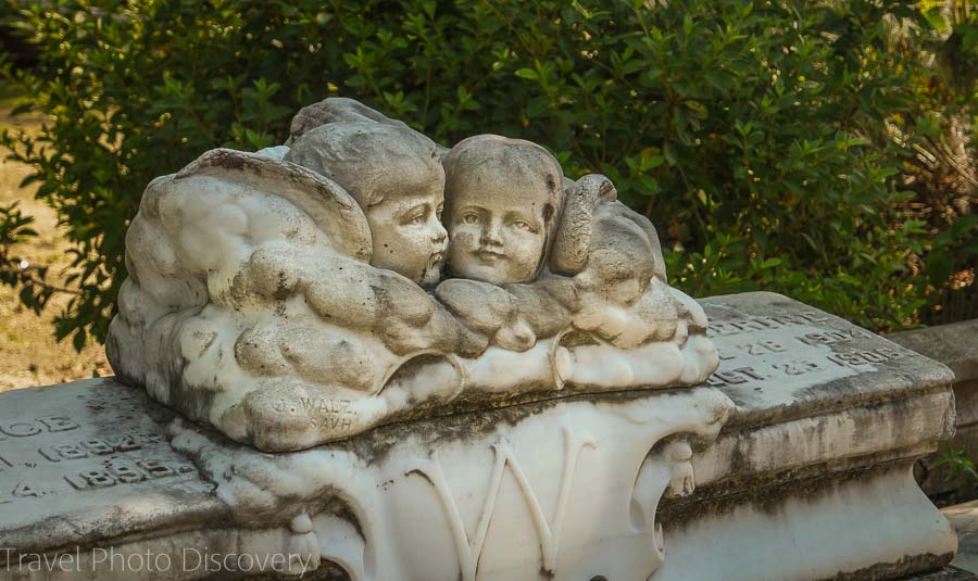 Cherub angels at the Bonaventure Cemetery, Savannah