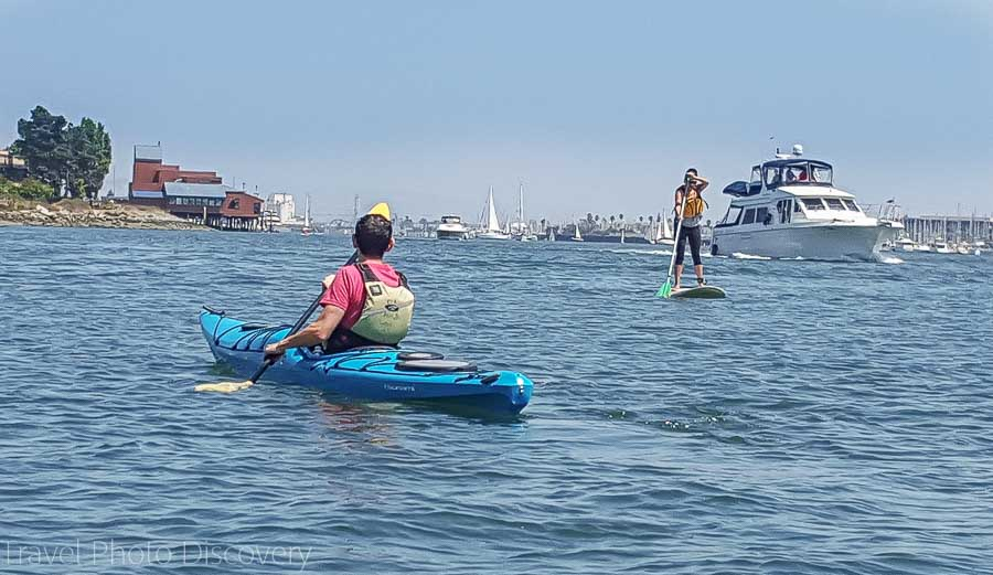 Kayaking in the estuary at Jack London Square Oakland